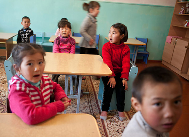 A Kyrgyz-language kindergarten in Barskoon, on Lake Issyk-Kul, February 2013. David Trilling